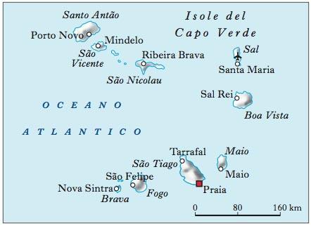 Capo Verde mappa politica