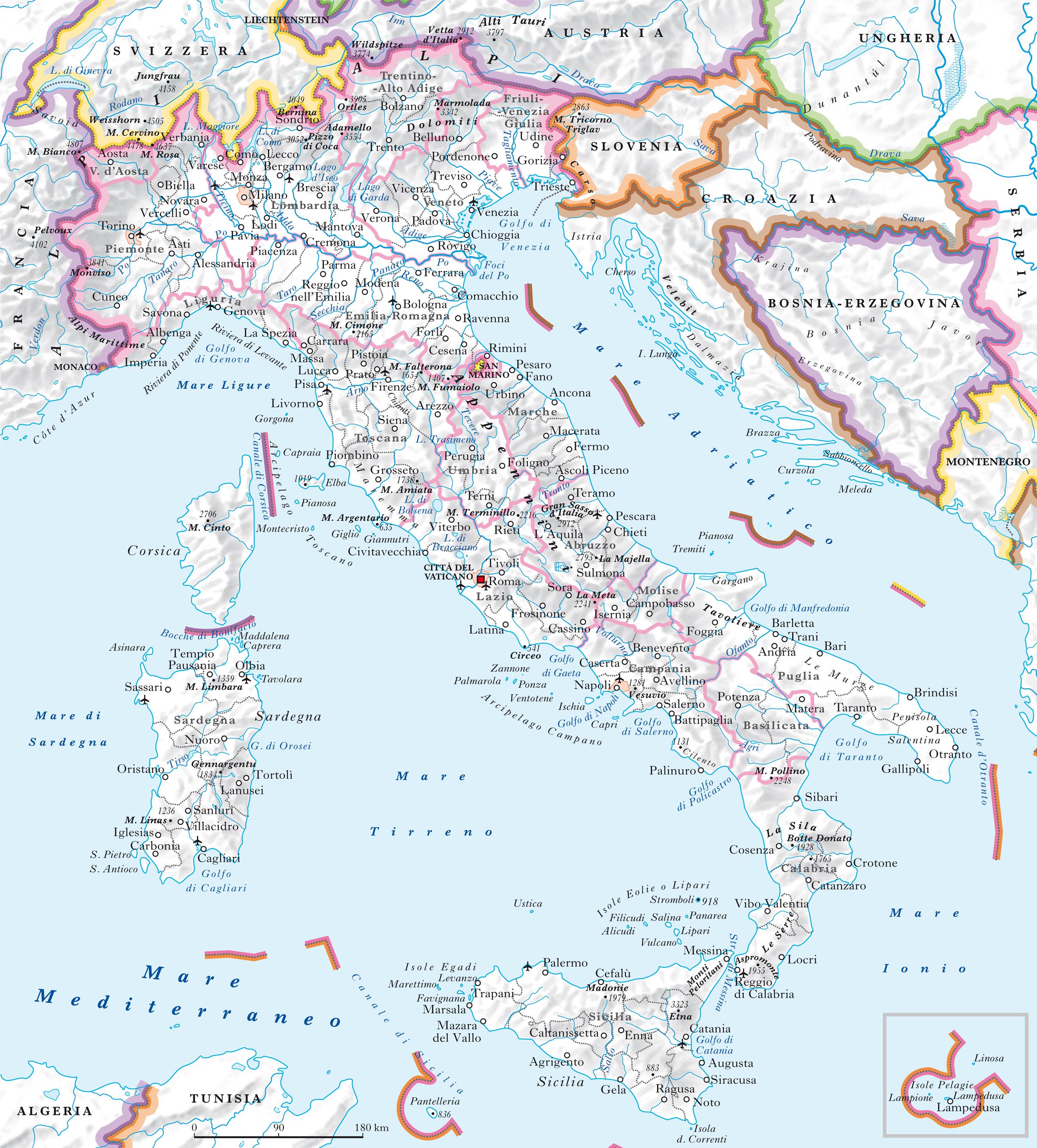 Cartina Italia Fiumi.Cartina Muta Italia Fiumi E Laghi Europei