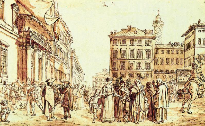 L-estrazione del lotto a Montecitorio, disegno di anonimo del 19? secolo, Roma, Museo di Roma
