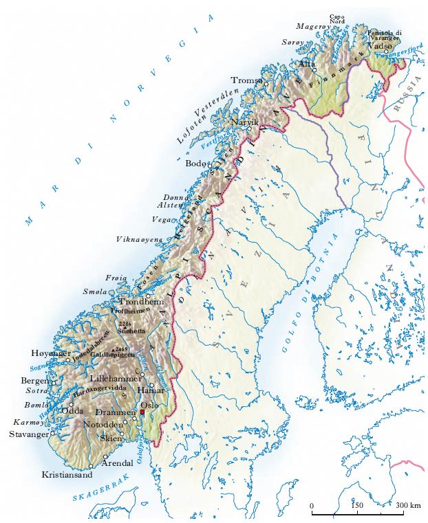 Cartina Fisica Della Norvegia.Le Terroriste Della Letteratura Norvegia On The Road 1