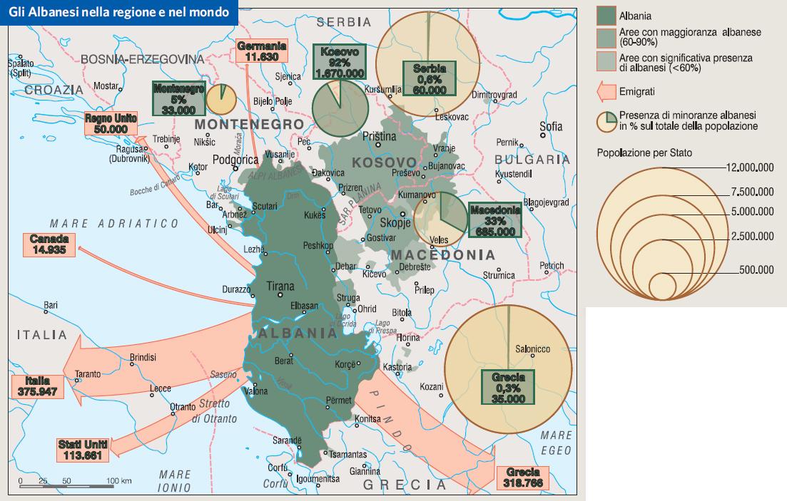 Albania Cartina Stradale.Albania In Atlante Geopolitico