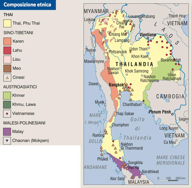 Tra Vietnam E Thailandia Cartina Geografica.Thailandia In Atlante Geopolitico