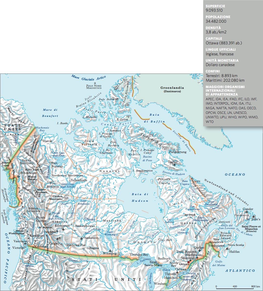 Canada In Atlante Geopolitico