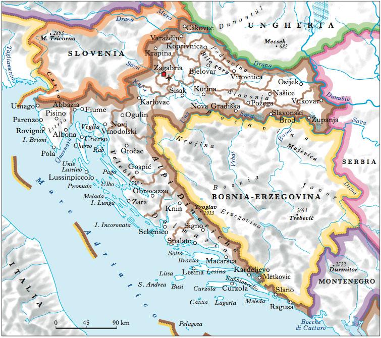 Croazia In Atlante Geopolitico