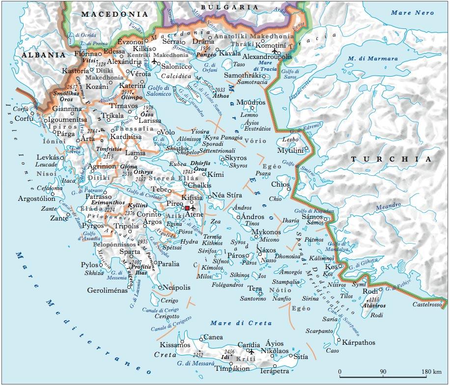 Cartina Della Grecia Politica.Grecia In Atlante Geopolitico