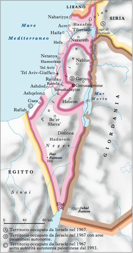 Israele Cartina Fisica.Israele In Atlante Geopolitico