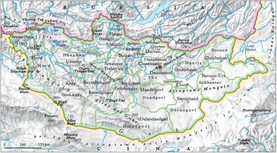 Cartina Geografica Della Mongolia.Mongolia In Atlante Geopolitico