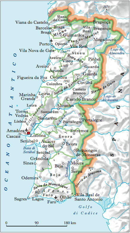 Cartina Muta Della Spagna Da Completare.Cartina Fisica Del Portogallo Da Stampare