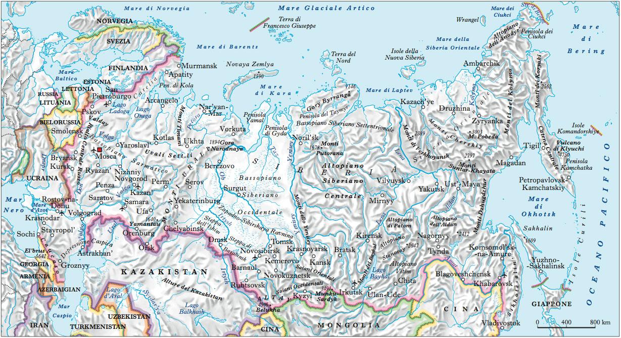 Cartina Geografica Politica Russia.Russia In Atlante Geopolitico