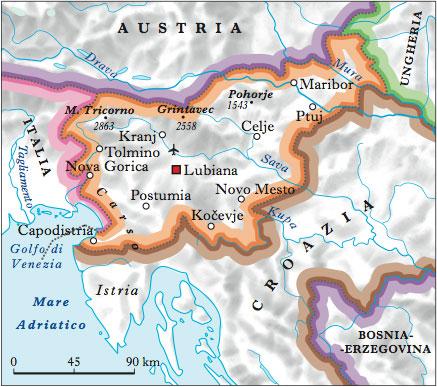 Cartina Slovenia Pdf.Slovenia In Atlante Geopolitico