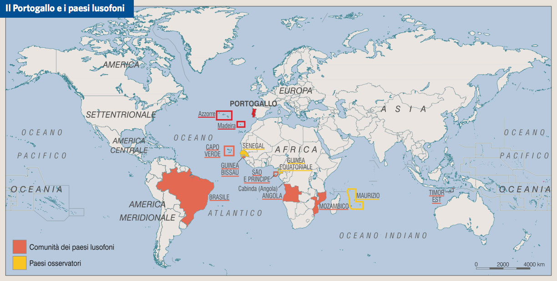 Cartina Geografica Portogallo E Isole.Portogallo In Atlante Geopolitico