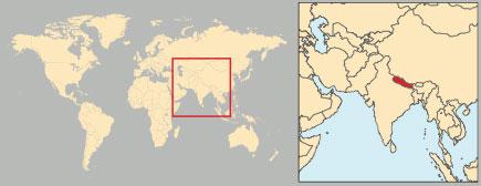 Cartina Mondo Nepal.Nepal In Atlante Geopolitico