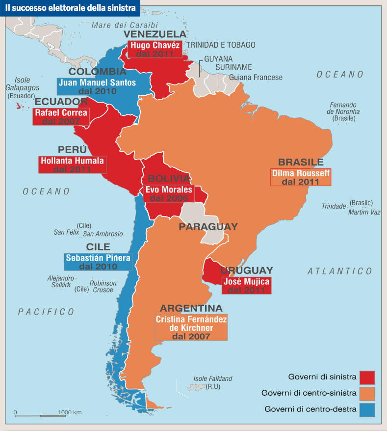 Cartina Fisica America Latina.America Latina Una Realta In Continuo Cambiamento In Atlante Geopolitico