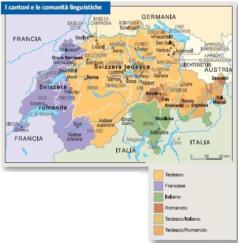 Cantoni Cartina Della Svizzera.Svizzera In Atlante Geopolitico