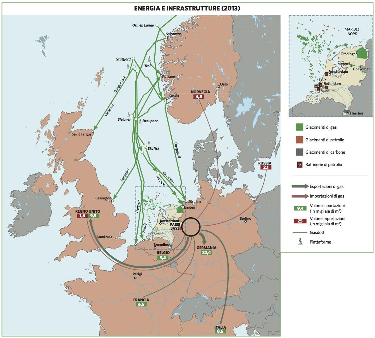 Olanda Cartina Fisica.Paesi Bassi In Atlante Geopolitico