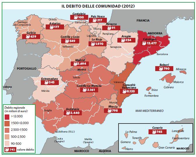 Cartina Tematica Spagna.Spagna In Atlante Geopolitico