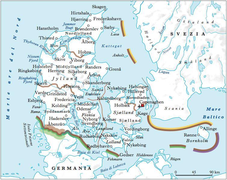 Danimarca in atlante geopolitico - Mappa di ungheria ed europa ...