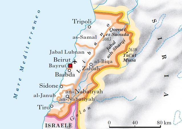 Cartina Politica Del Libano.Libano In Atlante Geopolitico