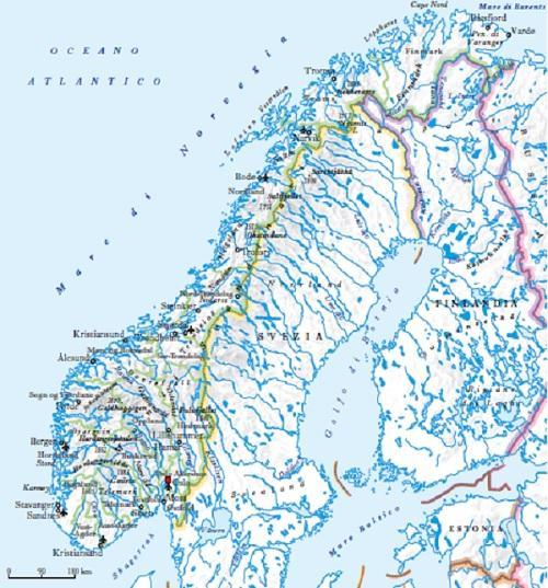 Cartina Norvegia Politica.Norvegia In Atlante Geopolitico