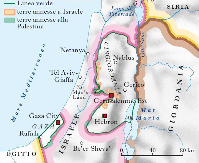 Cartina Israele E Palestina.Palestina In Atlante Geopolitico