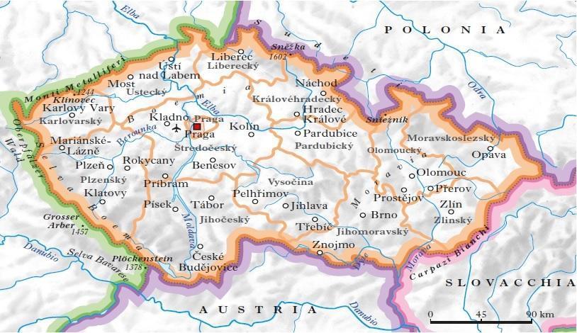 Repubblica ceca in atlante geopolitico for Repubblica politica