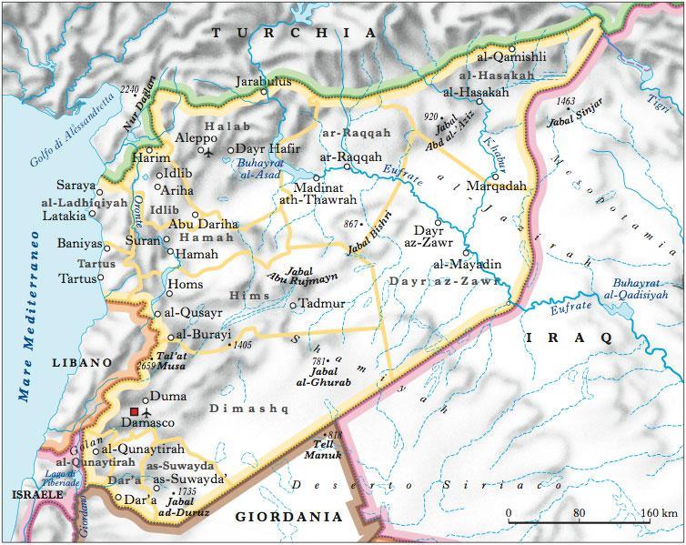 Siria in atlante geopolitico for Citta della siria che da nome a un pino