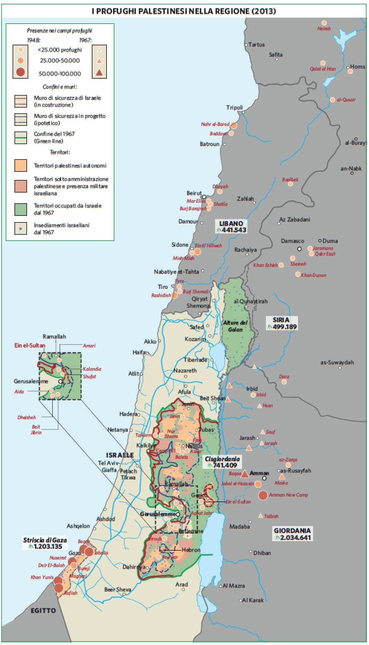 Cartina Politica Palestina.Palestina In Atlante Geopolitico