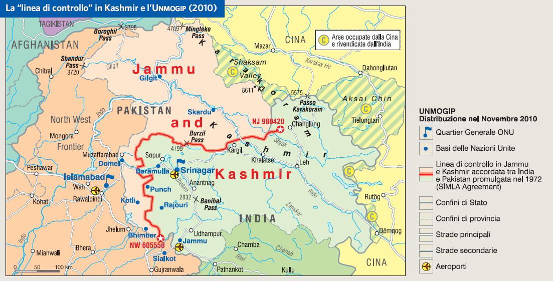 Cartina Dell India Del Nord.India In Atlante Geopolitico