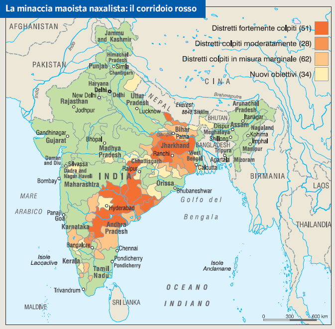 India Meridionale Cartina Geografica.India In Atlante Geopolitico