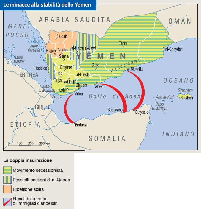 Cartina Yemen.Yemen In Atlante Geopolitico
