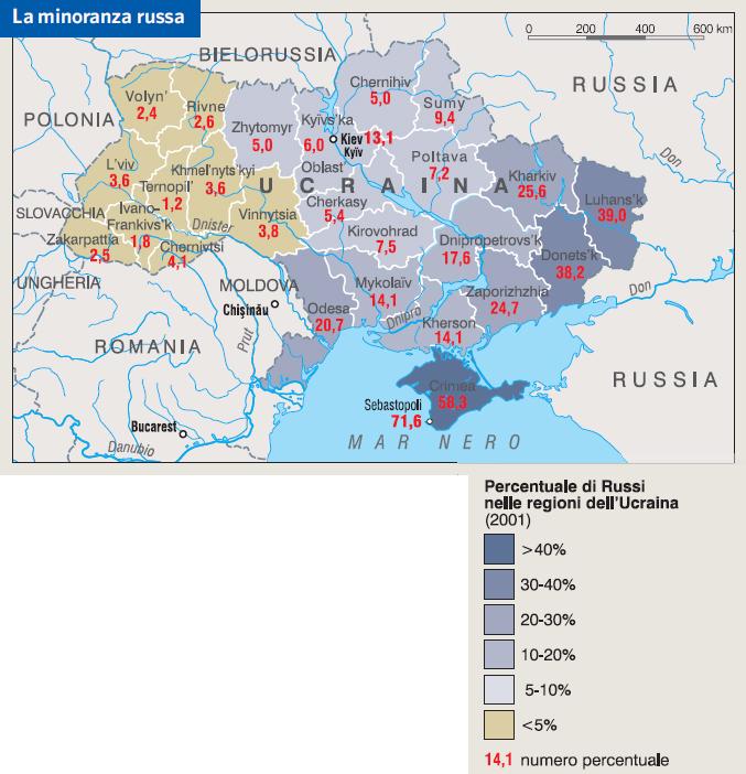 Cartina Geografica Russia Ucraina.Ucraina In Atlante Geopolitico