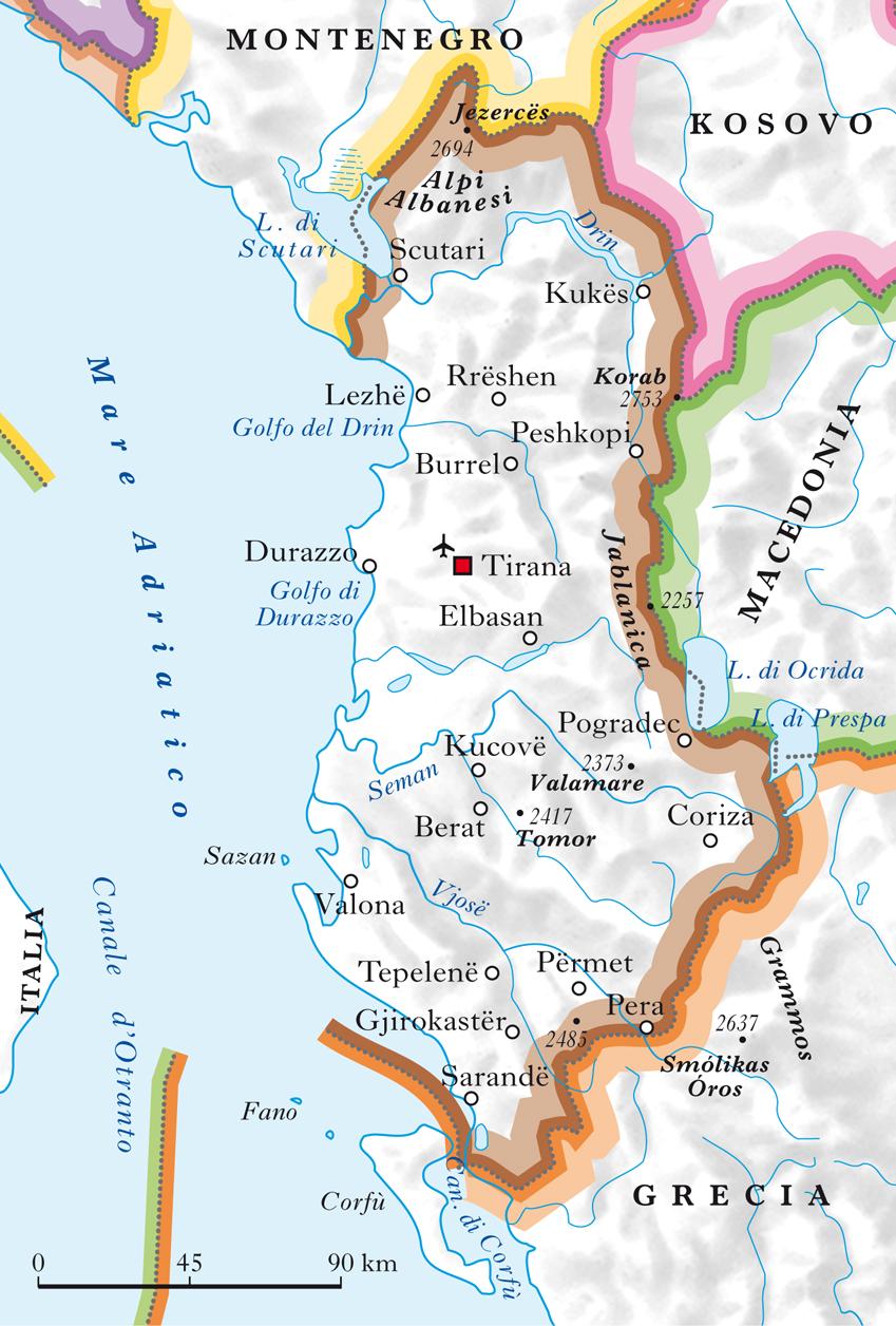 Cartina Albania Fisica.Albania In Atlante Geopolitico
