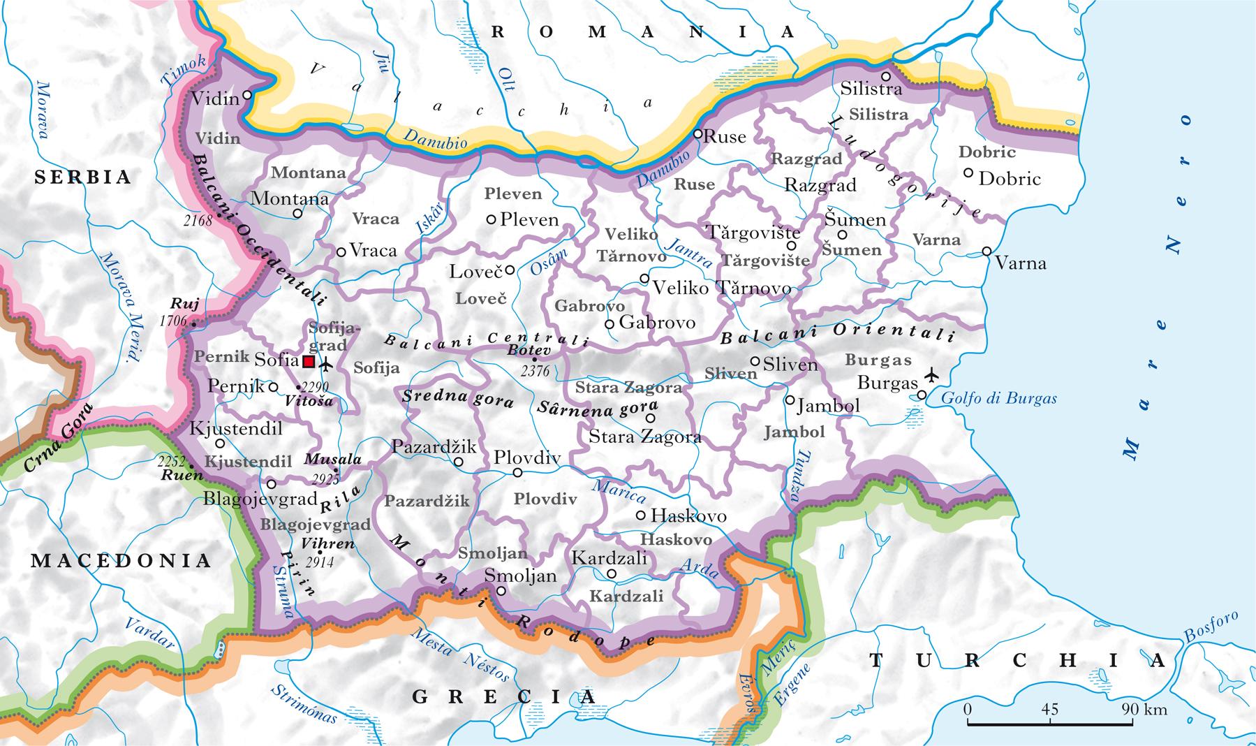 Cartina Geografica Fisica Della Romania.Bulgaria Nell Enciclopedia Treccani