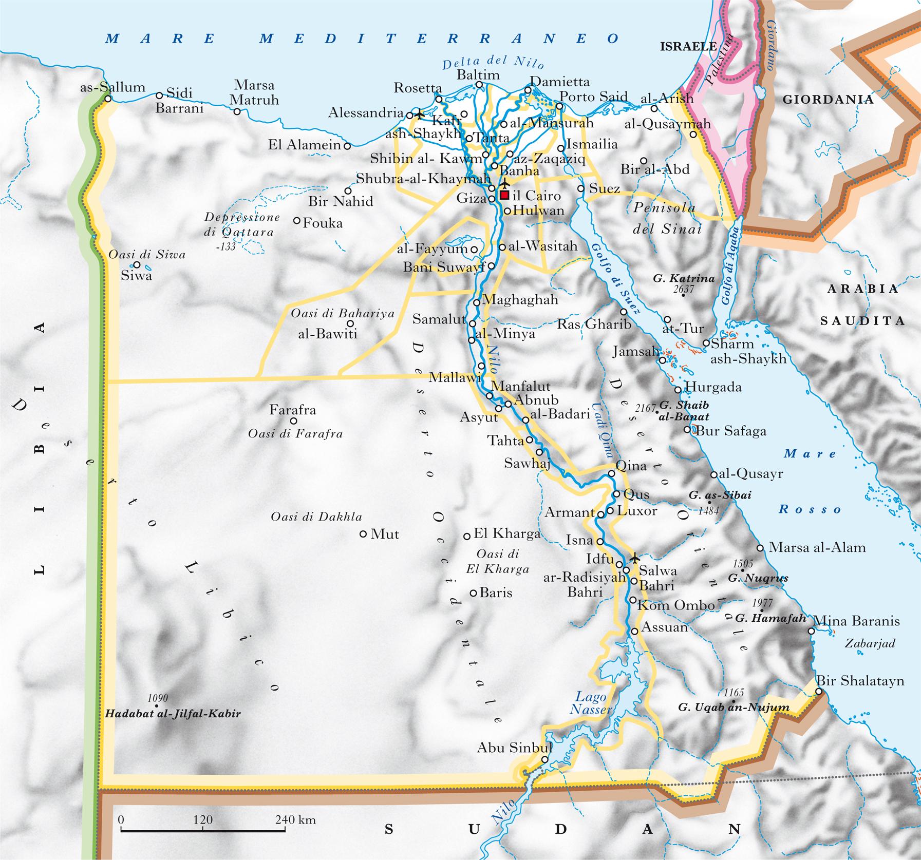 Cartina Geografica Italia Egitto.Egitto In Atlante Geopolitico
