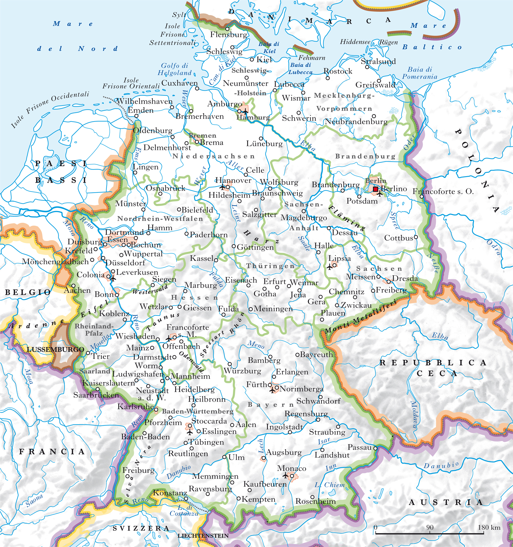 Germania Del Sud Cartina.Germania Nell Enciclopedia Treccani