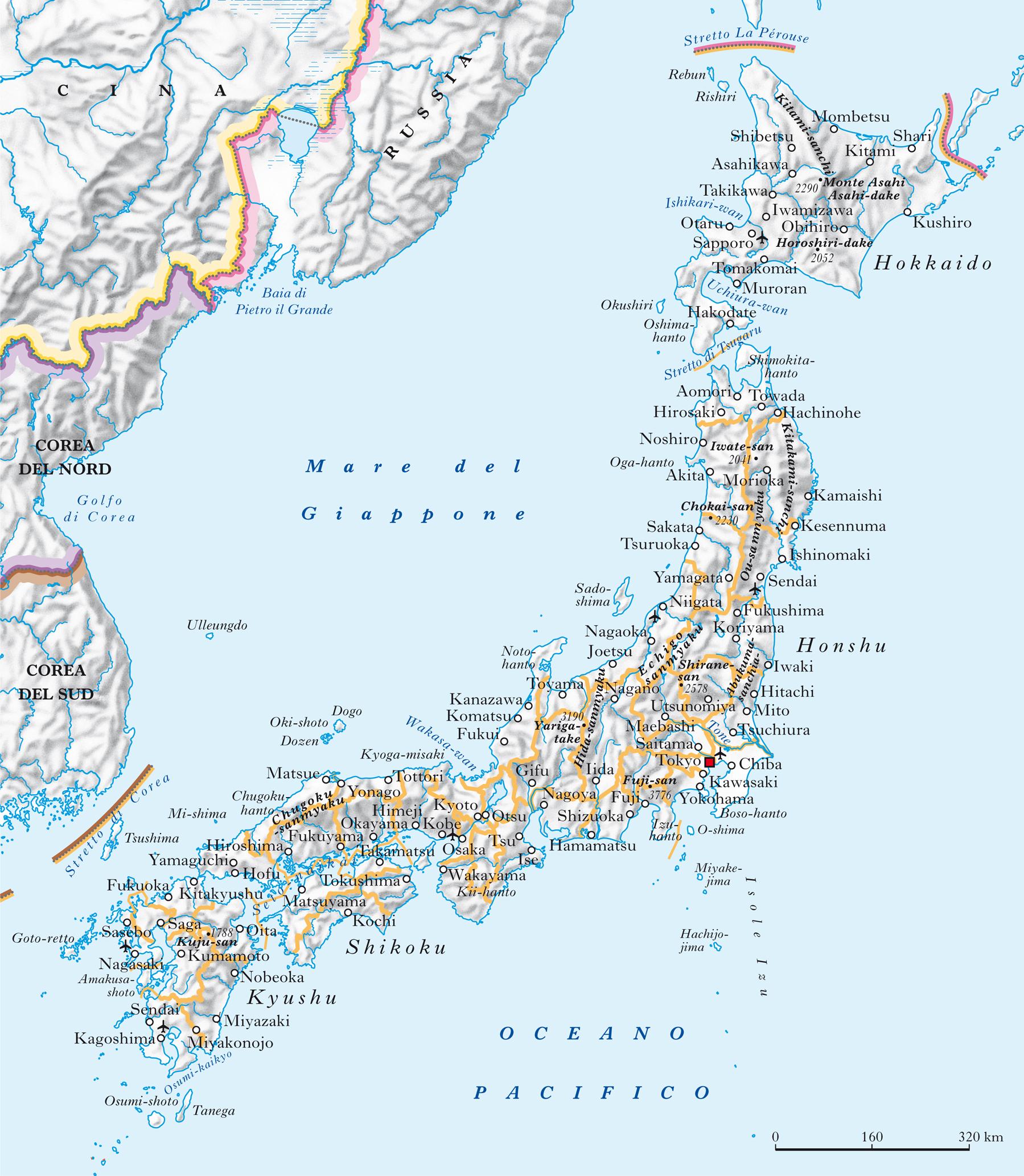 Il Giappone Cartina Fisica.Giappone In Atlante Geopolitico