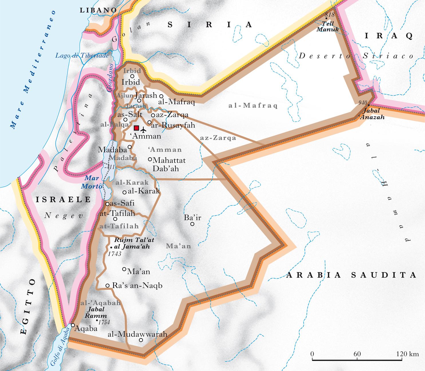 Cartina Di Israele E Giordania.Giordania Nell Enciclopedia Treccani