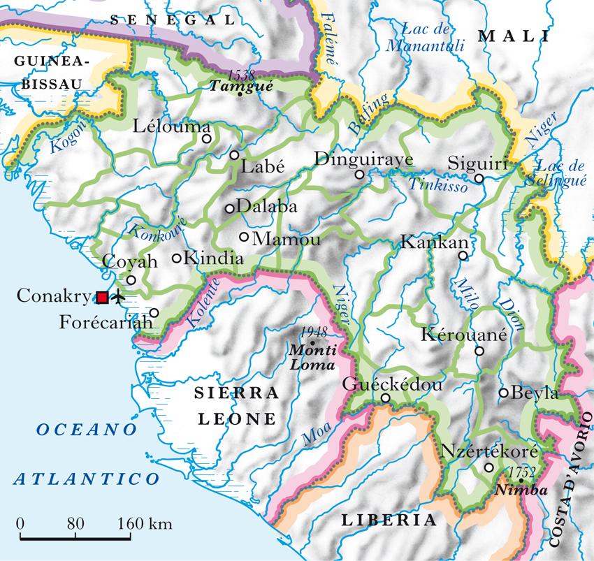 Guinea Cartina Geografica.Guinea Repubblica Di Nell Enciclopedia Treccani