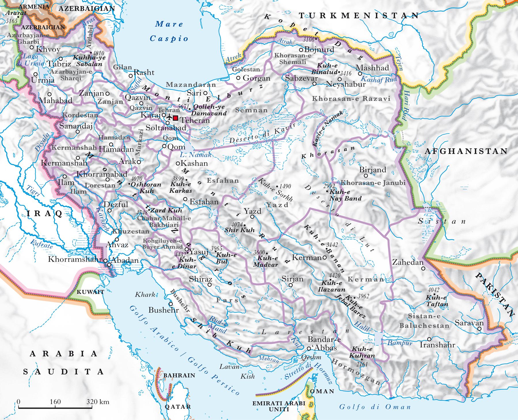 Medio Oriente Cartina Fisica.Iran Nell Enciclopedia Treccani