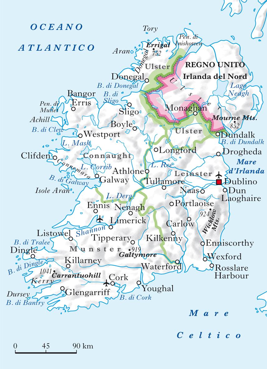 Cartina Geografica Irlanda Del Sud.Irlanda In Atlante Geopolitico