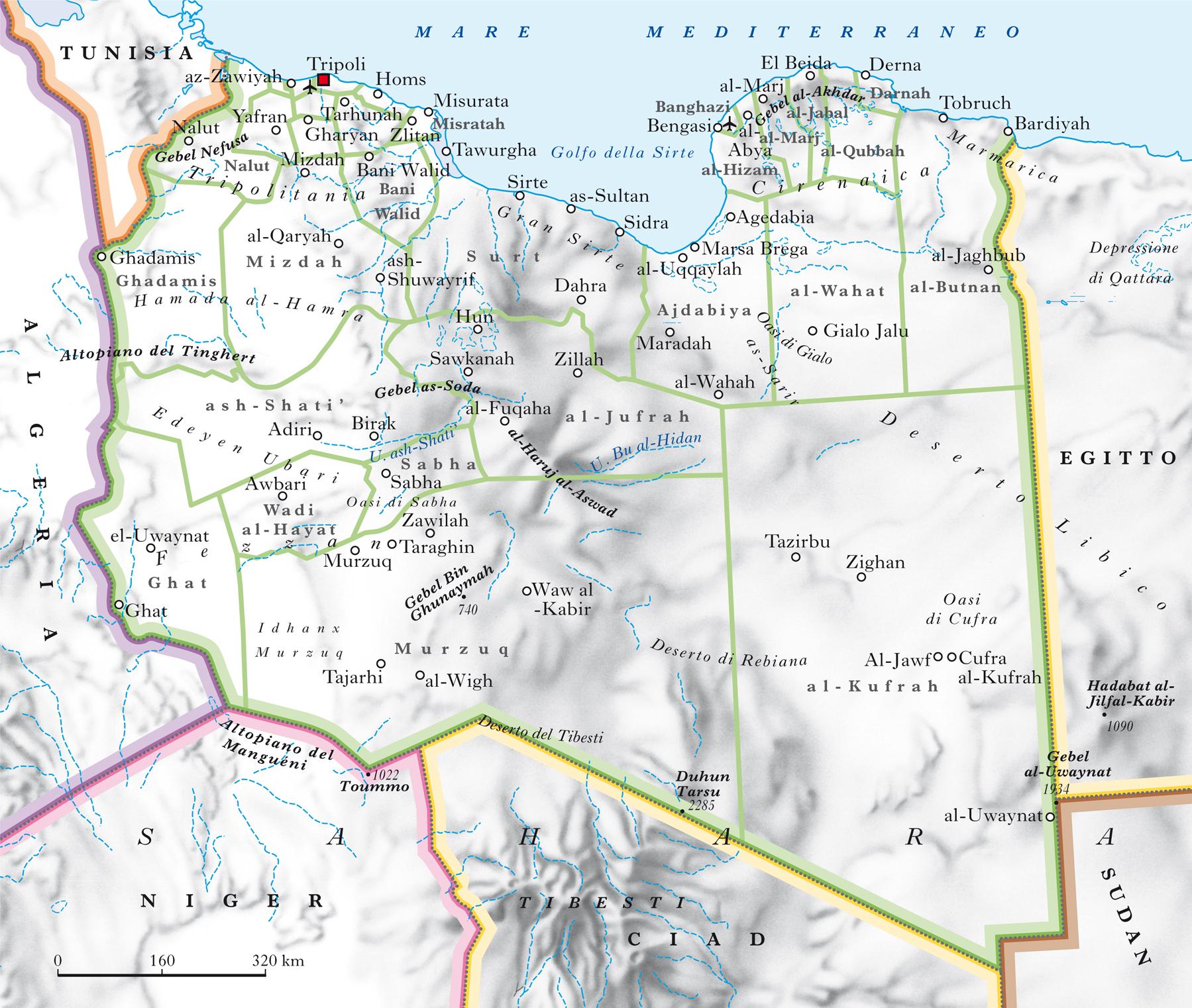libia in atlante geopolitico