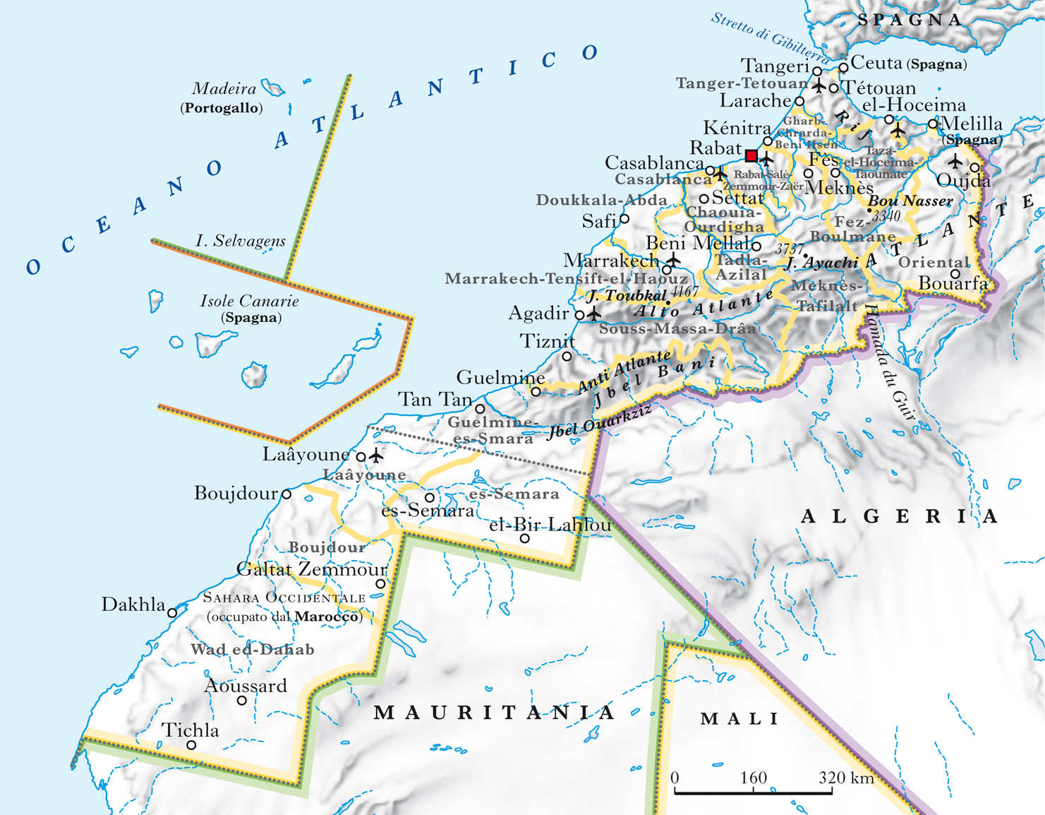 Marocco Cartina Geografica Fisica.Marocco Nell Enciclopedia Treccani