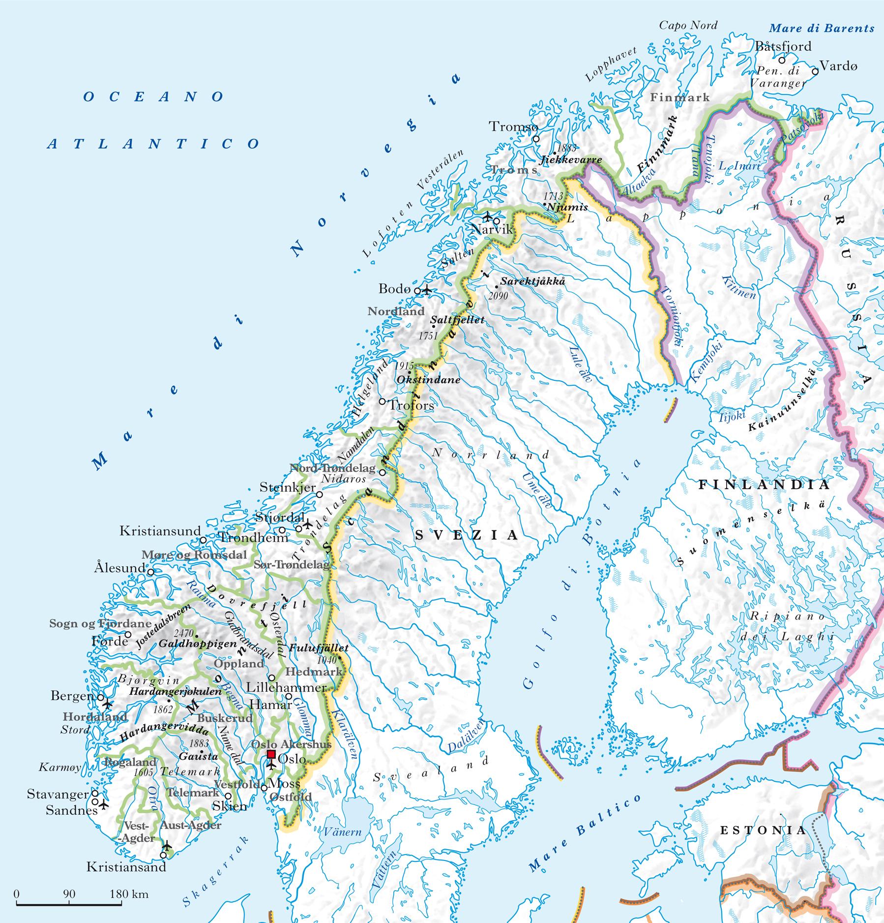 Cartina Norvegia Politica.Norvegia Nell Enciclopedia Treccani