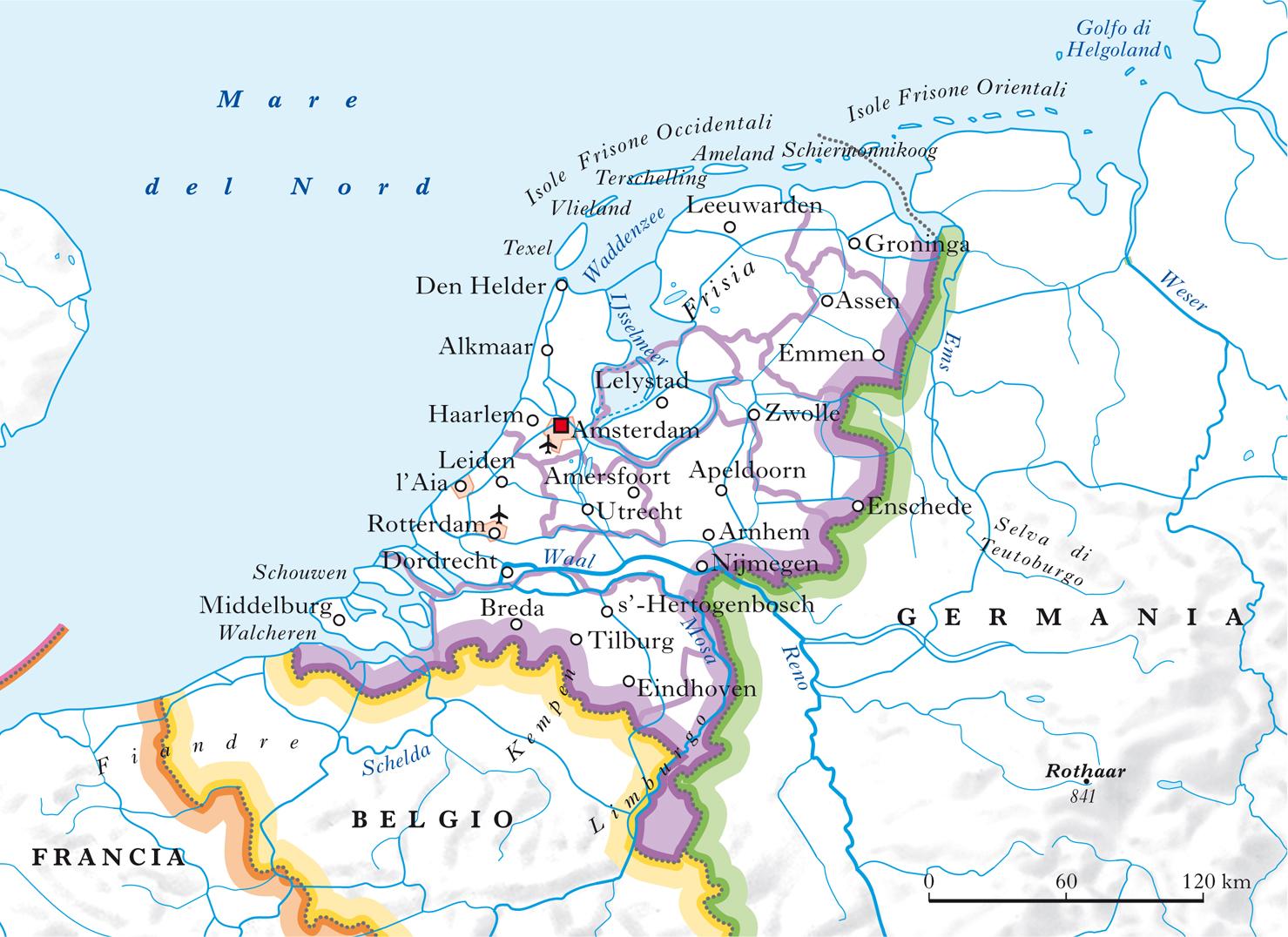 Cartina Olanda Fisica.Paesi Bassi Nell Enciclopedia Treccani