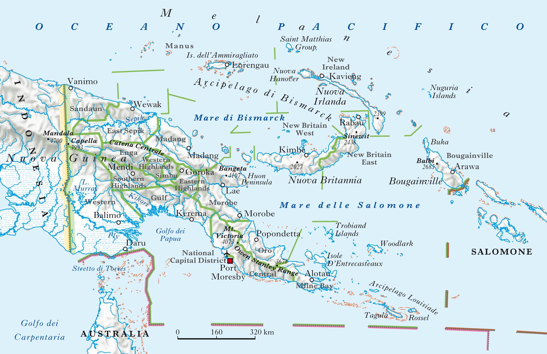 Guinea Cartina Geografica.Papua Nuova Guinea Nell Enciclopedia Treccani