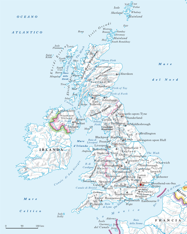 Cartina Stradale Della Scozia.Gran Bretagna E Irlanda Del Nord Regno Unito Di Nell Enciclopedia Treccani