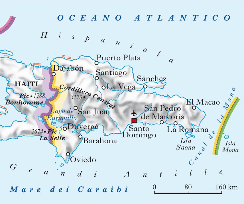 Cartina Geografica Haiti.Repubblica Dominicana In Atlante Geopolitico