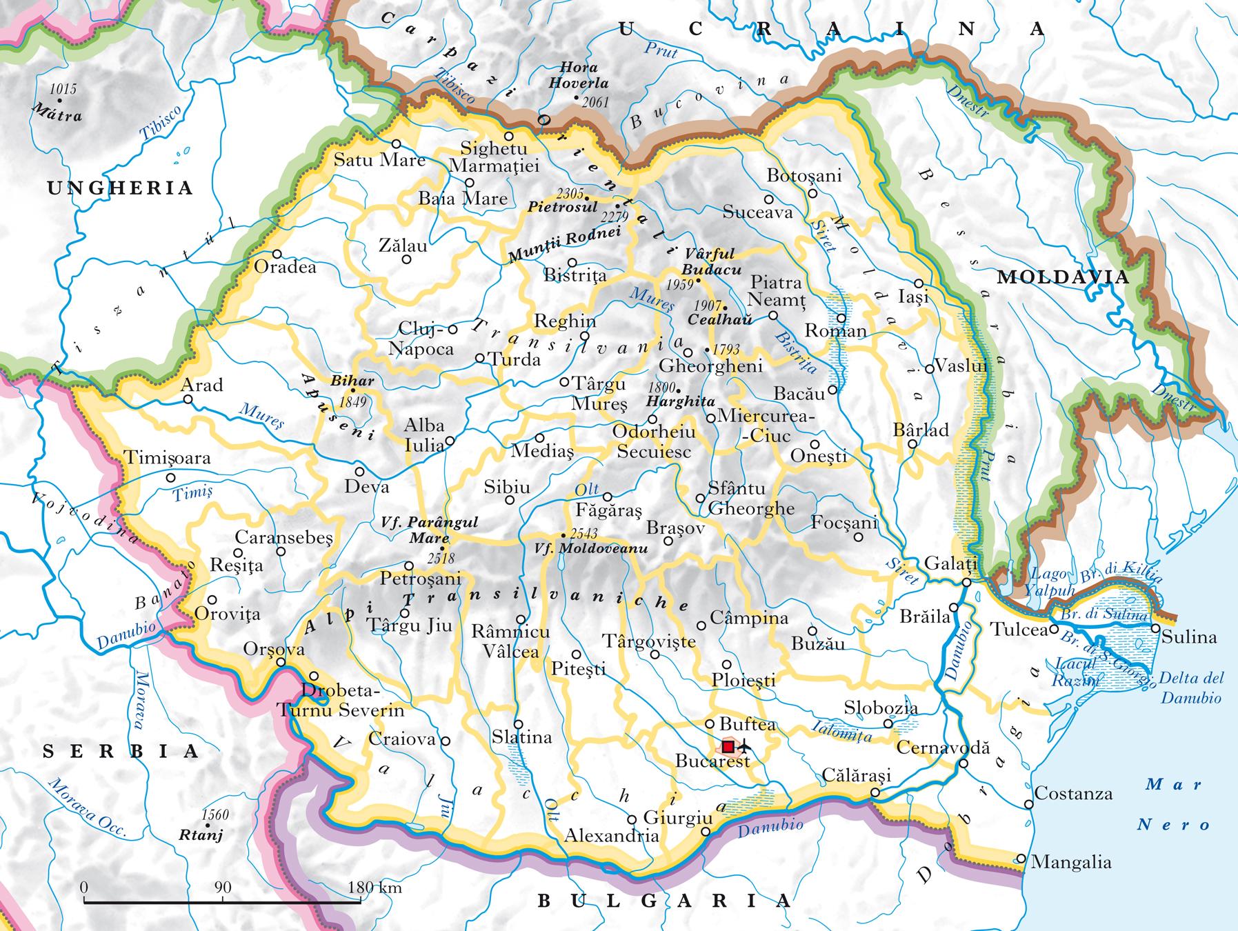 Cartina Italia Romania.Romania In Atlante Geopolitico