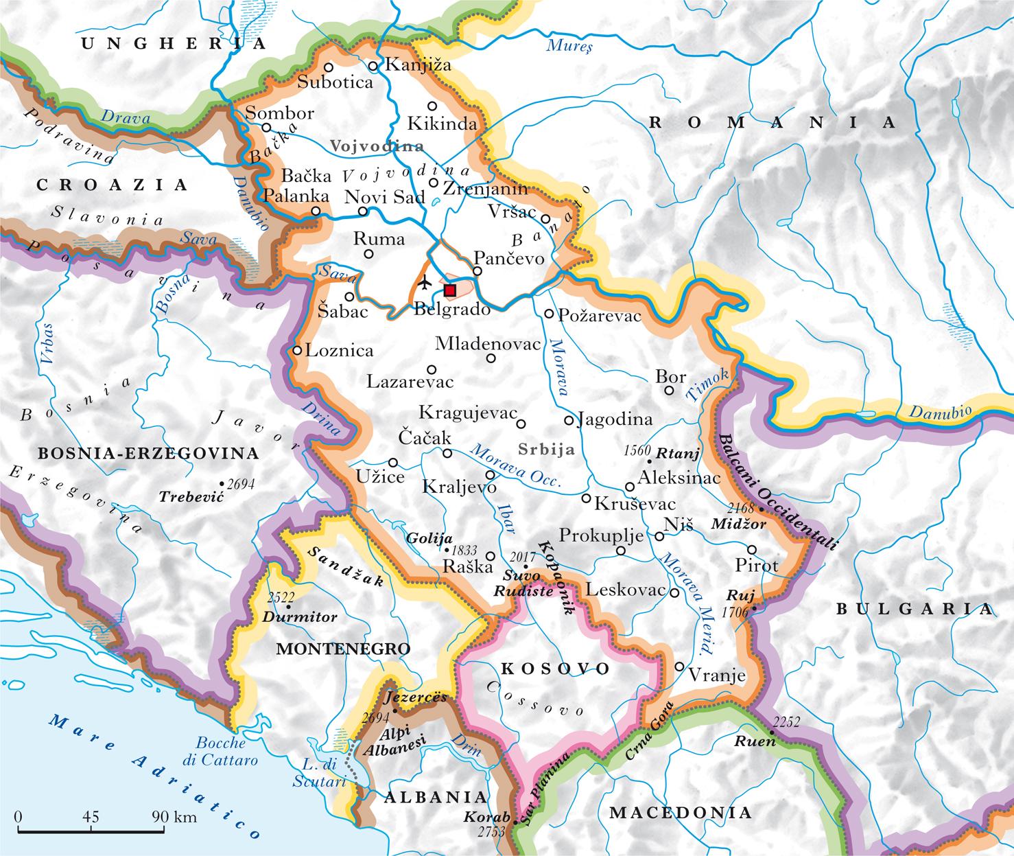 Cartina Muta Della Croazia.Serbia Nell Enciclopedia Treccani