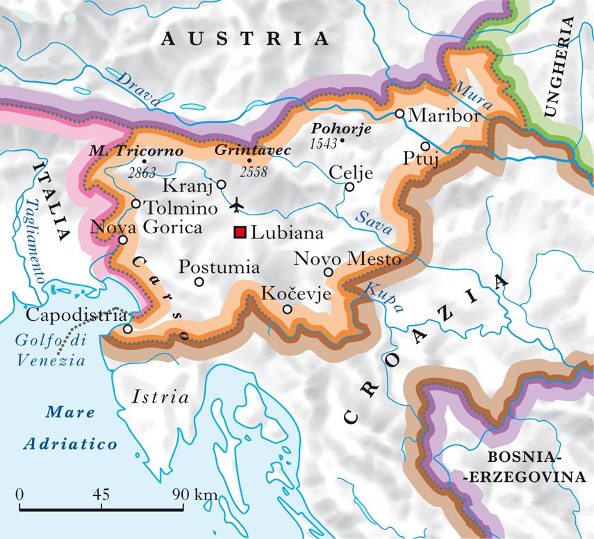 Cartina Della Croazia E Slovenia.Slovenia Nell Enciclopedia Treccani